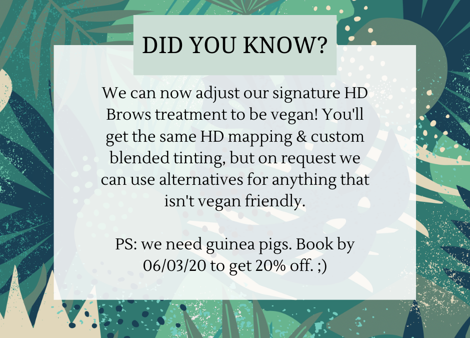 VEGAN HD Brows Bristol